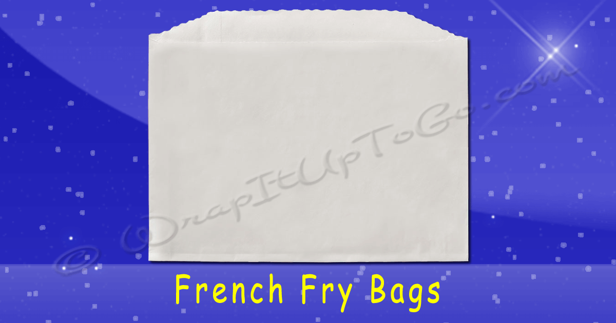 Fischer Paper Products 616 French Fry Bags 5 X 1 X 4 Plain