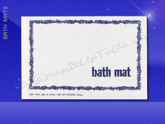 Bath Mat - 20 x 13-3/4 - Flower Design