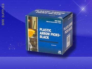 RP148BK - Black Plastic Arrow Picks