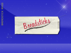 Grease Resistant Breadstick Bags - 5 x 3 x 12 - Printed Breadsticks
