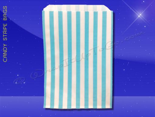 Candy Stripe Bags 10 x 14 – Aqua Stripes 1