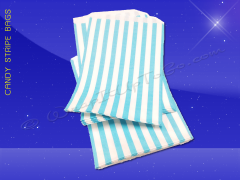 Candy Stripe Bags 7 x 9 - Aqua Stripes
