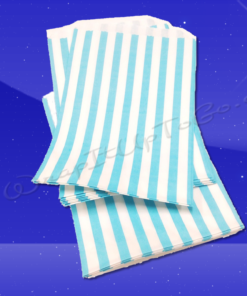 Candy Stripe Bags 5 x 7 – Aqua Stripes 2