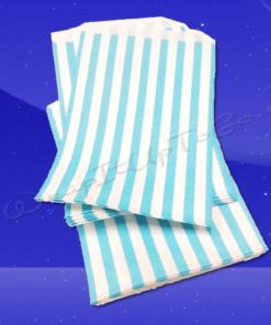 Candy Stripe Bags 5 x 7 - Aqua Stripes