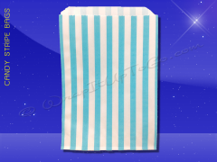 Candy Stripe Bags 5 x 7 - Aqua Stripes