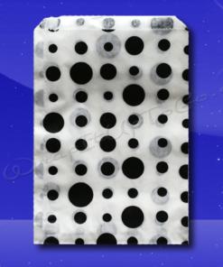 Candy Stripe Bags 10 x 14 – Black Dots 1