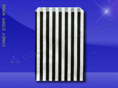 Candy Stripe Bags 10 x 14 - Black Stripes