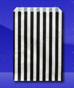 Candy Stripe Bags 10 x 14 - Black Stripes