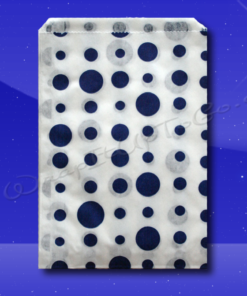Candy Stripe Bags 10 x 14 – Blue Dots 1