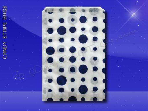 Candy Stripe Bags 5 x 7 – Blue Dots 1