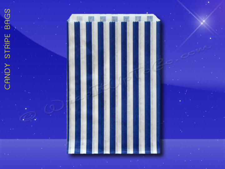 Candy Stripe Bags 7 x 9 - Blue Stripes