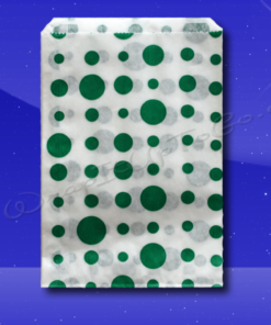Candy Stripe Bags 10 x 14 – Green Dots 1