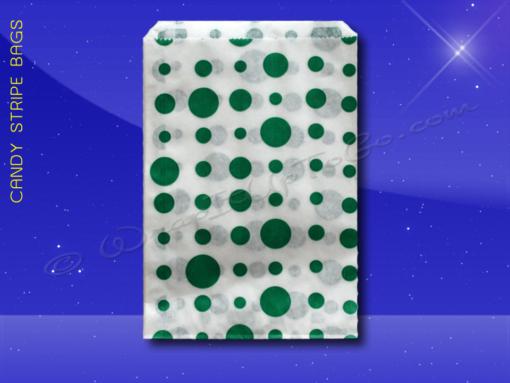 Candy Stripe Bags 7 x 9 – Green Dots 1