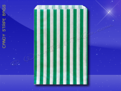 Candy Stripe Bags 7 x 9 - Green Stripes