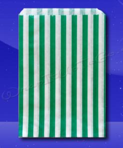 Candy Stripe Bags 7 x 9 - Green Stripes