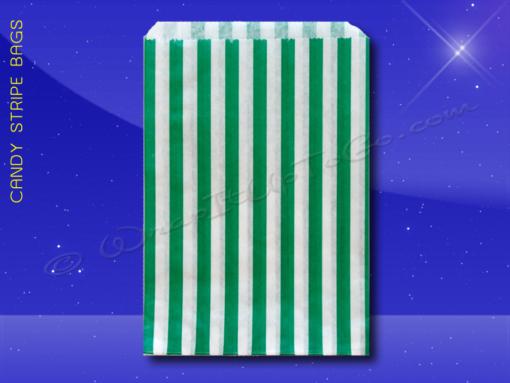Candy Stripe Bags 5 x 7 – Green Stripes 1