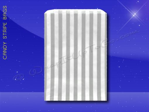 Candy Stripe Bags 5 x 7 – Grey Stripes 1