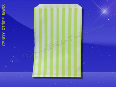 Candy Stripe Bags 5 x 7 - Lime Green Stripes