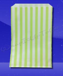 Candy Stripe Bags 5 x 7 - Lime Green Stripes