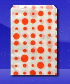 Candy Stripe Bags 10 x 14 – Orange Dots 1
