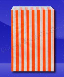 Candy Stripe Bags 10 x 14 - Orange Stripes