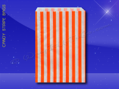 Candy Stripe Bags 7 x 9 - Orange Stripes
