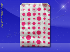 Candy Stripe Bags 10 x 14 - Pink Dots