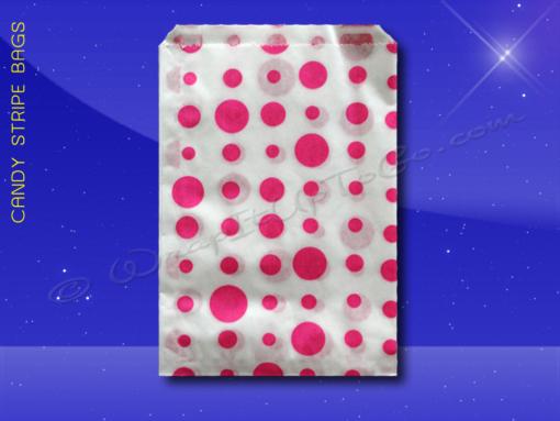 Candy Stripe Bags 5 x 7 – Pink Dots 1