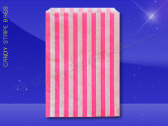 Candy Stripe Bags 10 x 14 - Pink Stripes