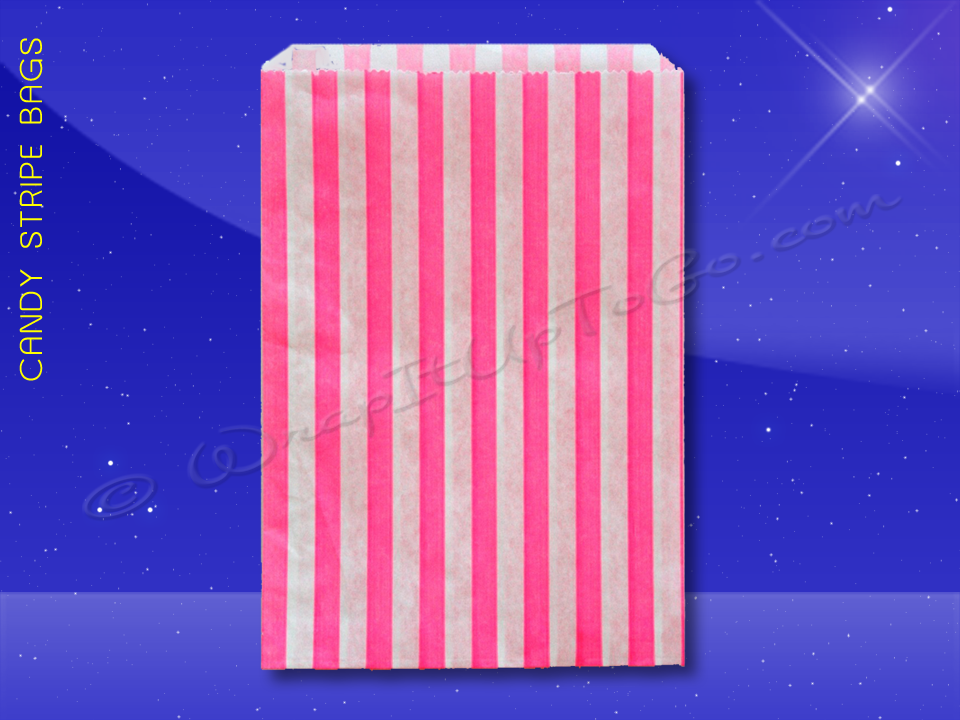 Candy Stripe Bags 5 x 7 - Pink Stripes