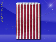 Candy Stripe Bags 10 x 14 - Purple Stripes