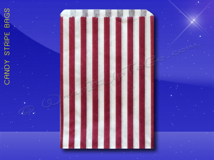 Candy Stripe Bags 7 x 9 - Purple Stripes