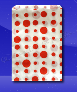 Candy Stripe Bags 5 x 7 – Red Dots 1