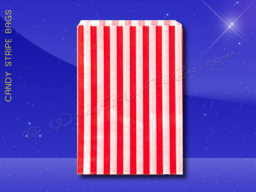 Candy Stripe Bags 10 x 14 – Red Stripes 1