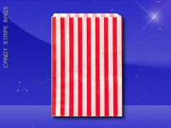 Candy Stripe Bags 5 x 7 - Red Stripes