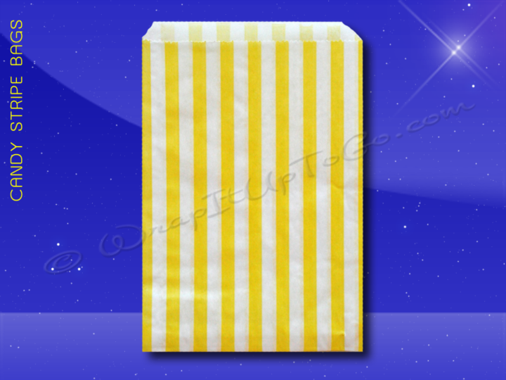Candy Stripe Bags 7 x 9 - Yellow Stripes