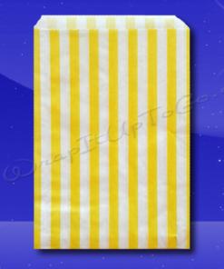Candy Stripe Bags 10 x 14 - Yellow Stripes