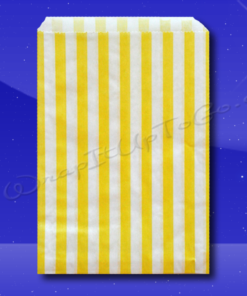 Candy Stripe Bags 5 x 7 - Yellow Stripes
