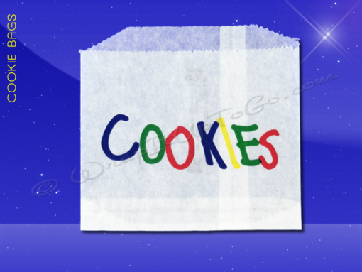 Cookie Bags - 4-7/8 x 4 - Printed Cookies