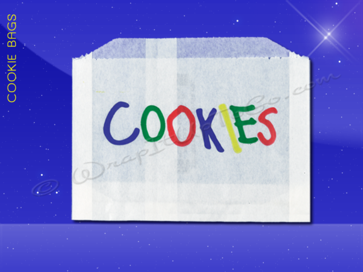 Cookie Bags - 5-1/2 x 1 x 4 - Printed Cookies