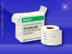 2x3 Shelf Life Dissolvable w/box 250 Labels per Roll