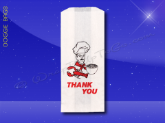 Duplex Doggie Bags - 5 x 3 x 12 - Printed Thank You Chef