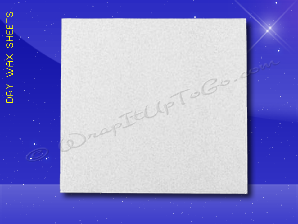 Dry Wax Sheets - 12 x 12 - Plain