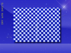 Dry Wax Sheets - 9 x 12 - Blue Checkerboard