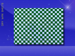 Dry Wax Sheets - 9 x 12 - Green Checkerboard