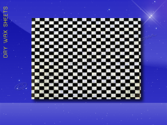 Dry Wax Sheets - 9 x 12 - Black Checkerboard