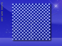 Dry Wax Sheets - 12 x 12 - Blue Checkerboard