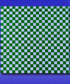 Dry Wax Sheets – 12 x 12 – Green Checkerboard 1