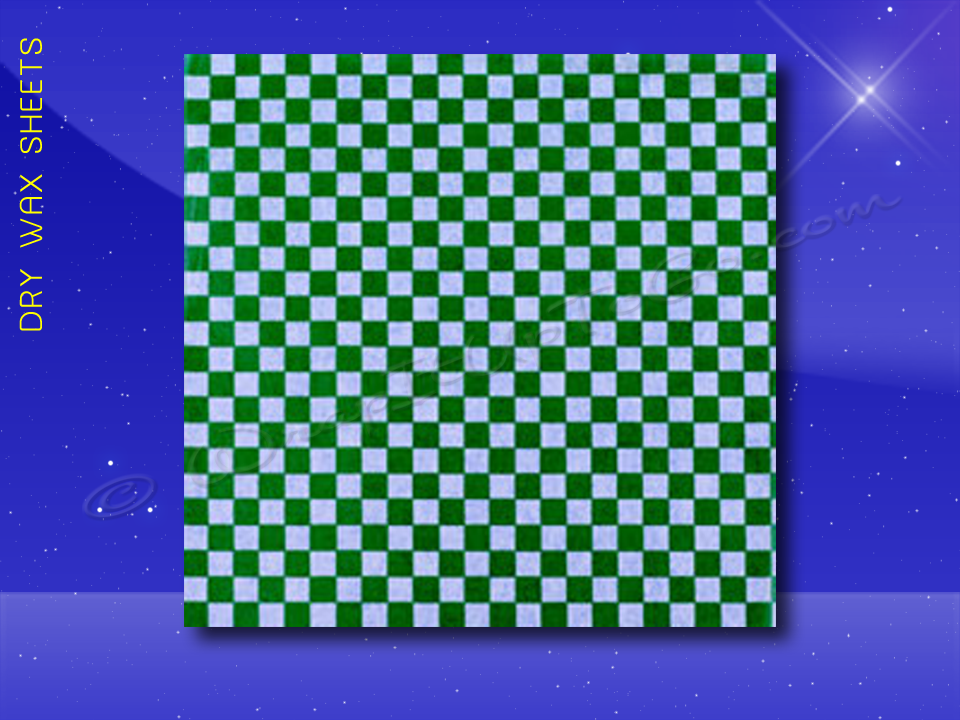 Dry Wax Sheets - 12 x 12 - Green Checkerboard