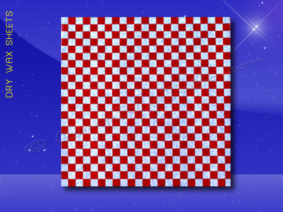 Dry Wax Sheets - 12 x 12 - Red Checkerboard